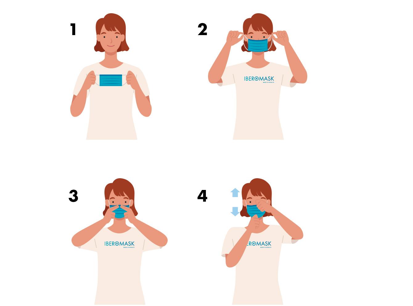 instrucciones como colocase mascarillas higienica iberomask